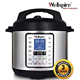 Wellspire Multi Cooking Pot Smart Electric Pressure Cooker with Instant 14-1 Single-Touch Functions, Slow Cook, Rice, Sauté, Yogurt, Poultry, Egg, Cake, Soup (6 litres)