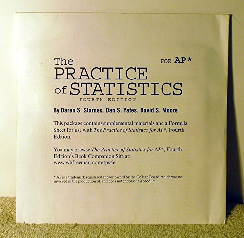 Price comparison product image The Practice of Statistics for AP 4th Edition CD & Formula Sheet