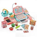 N-B 24 Unids/Set Mini Kits de Caja Registradora de Supermercado Simulados Electrónicos Juguetes Jugar Cajero Chica Juguete