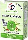 CD Festes Shampoo Avocado- und Rizinus-Öl für geschädigtes & trockenes Haar, 75 g, nachhaltige Haarseife, pflegendes Haarshampoo ohne Mikroplastik, vegane Pflege