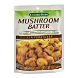 Concord Foods Mushroom Batter Mix - Tempura Style (Pack of 2) 5.2 oz Packets