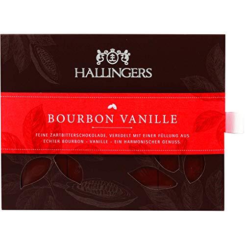 Hallingers Zartbitter-Schokolade mit Bourbon-Vanille hand-geschöpft (90g) - Bourbon Vanille (Tafel-Karton) - zu Passt immer