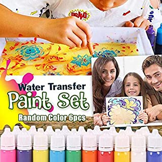 Gebuter Hydrographics Water Transfer Marbling Painting Set Painting on Water Drawing Tools Kit Paint Kits Kids Water Color Ebru Starter Set Marbling Ink Paint Set for Paper Fabric