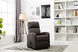 Powered by an ultra silent motor, Our power lift chair, lift, will effortless Recline and rise as you wish. You can easily control the position via the attached remote, while enjoying relaxing coziness. Upholstered in durable-yet-plush fabric, Lift i...