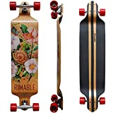 RIMABLE Drop Deck Longboard SNAILFLOWER