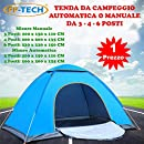 Travelpal Quinta 3 Tenda 60 secondi Quick Tent Alta Qualità Tenda da 3 posti Poliestere 190T Colonna d'Acqua 3000mm Fibra di Vetro