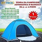 FP-TECH Tenda da Campeggio 3 4 6 POSTI Persone Canadese...