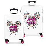Disney Minnie Sunny Day Juego de maletas Rosa 55/68 cms Rígida ABS Cierre combinación...