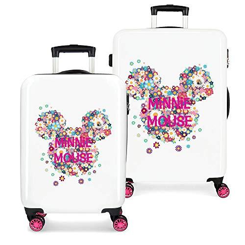 Disney Minnie Sunny Day Juego de maletas Rosa 55/68 cms Rígida ABS Cierre combinación 104L 4 Ruedas dobles Equipaje de Mano