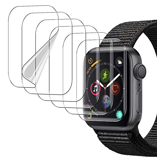 [6 Pack]UniqueMe Protector de pantalla para Apple Watch 38mm series 1/2/3, [Caso amistoso]...