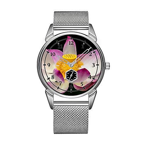 Art- und Weisemänner encajan en plata de acero inoxidable resistente al agua reloj de marcas de moda de lujo para fotografía de fotos de reloj en gran regalo de yoga Relojes