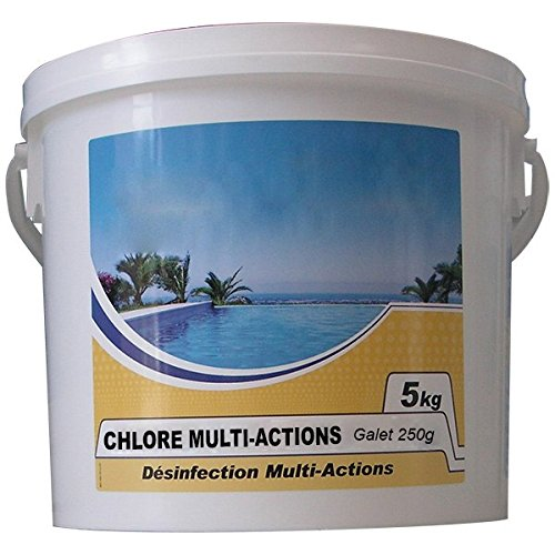 Nmp - Chlore Multi-Actions 250 - Chlore Lent Multi-Fonctions Galet 250g 5kg