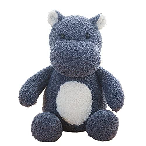 Blue Hippo Plush Toy, Hippo Stuffed Animal, 10-Inch Soft And Comfortable Plush Hippopotamus, Durable And Cute Plush Hippopotamus, Sleeping Companion, Birthday Hug Gift, Animal Dolls For Boys And Girls
