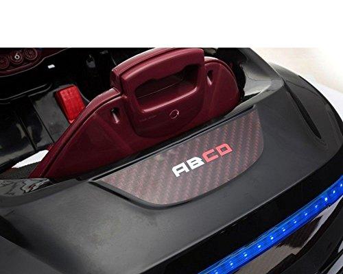 RC Auto kaufen Kinderauto Bild 5: Toyas Kinder Elektro Auto Sportwagen Cabrio Kinderfahrzeug mit Fernbedienung MP3 LED schwarz*