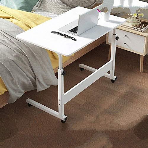 Lloow Laptoptisch Mit Rollen, Computertisch Höhenverstellbar PC-Tisch, Notebooktisch, Bett-Beistelltisch for Krankenbett, Pflegebett Bremsen Pflegetisch Couchtisch 2020,40 * 80cm