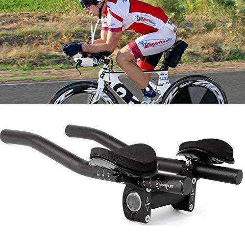 Sortim Aero Bar Triathlon Triathlon Tri Bike für Fahrradstütze Lenker, Mountainbike oder Rennrad, Aluminiumlegierung aktualisierte Version (schwarz)
