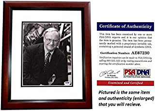 Bo Schembechler Signed - Autographed Michigan Wolverines UM 8x10 inch Photo MAHOGANY CUSTOM FRAME - Deceased 2006 - PSA/DNA Certificate of Authenticity (COA)