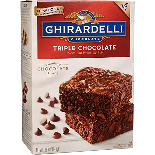 Ghirardelli Expect More Triple Chocolate Premium Brownie Mix, 6-count (7 lb 8 oz)