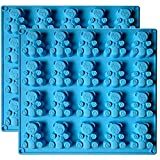 Palksky (2PCS)20 Cavity Large Gummy Bear Mold/Big Bear Crayon Mold for Brownie Muffin Chocolate Ganache Jelly Pralines Caramels Candy Soap Bar Bath Bomb Mould