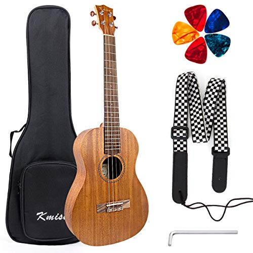 Baritone Ukulele 30 inch Uke Mahogany With DGBE String Strap Ukulele picks From Kmise