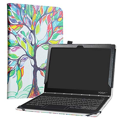 LiuShan Yoga Book C930 Funda, Folio Soporte PU Cuero con Funda Caso para 10.1' Lenovo Yoga Book C930 Android Tablet,Love Tree