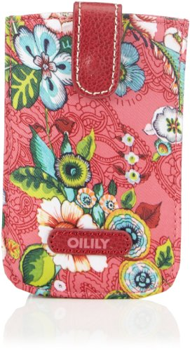 Oilily Damen French Flowers Smartphone Pull Hülle Ausweis-und Kartenhüllen, Pink (pink 402), 14x9x3 cm
