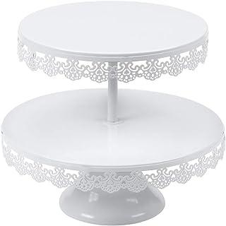 Vilavita Cupcake-Ständer mit 2 Etagen, rund, Eisen, für Ho