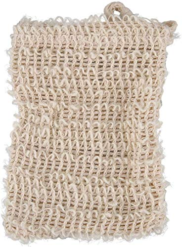 AQWESD Paquete de 30 Bolsas de jabón de sisal Natural Exfoliante Bolsa...