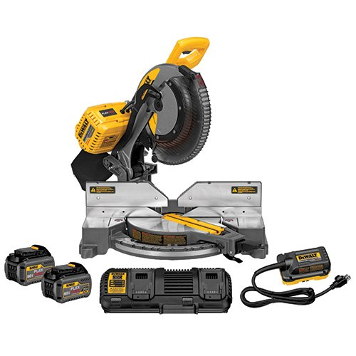 DEWALT FLEXVOLT 120V MAX Miter Saw Kit, 2-Inch, Compound, 2 Batteries (DHS716AT2)