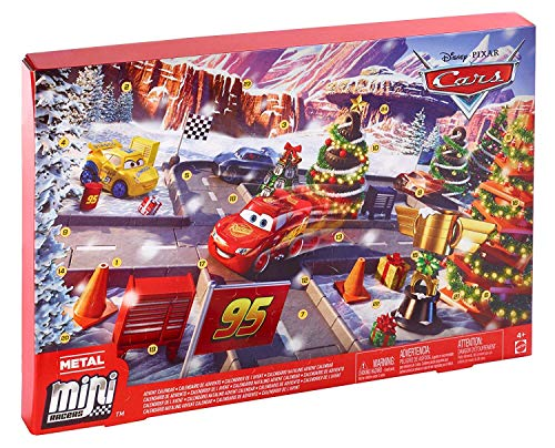 〔 Disney Pixar Cars 〕 ディズニー ピクサー カーズ アドベントカレンダー ( Advent calendar ) 24個 フィギュア セット ミニカー レール おもちゃ 男の子 [並行輸入品]