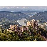 Uoaei Aggstein Castle Ruins Wachau Austria Landscape Photo Premium Wall Art Canvas Print 18X24 inch Castello Paesaggio Fotografia Parete