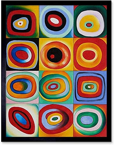 Wassily Kandinsky Rompecabezas Rompecabezas Abstracto Acuarelas Rompecabezas De Madera 1000 Piezas Los Niños Desarrollan Un Juego Mental 50X75Cm,Jigsaw Puzzle
