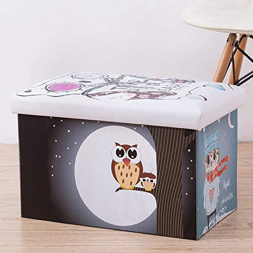 BASKET Laundry Hampers,Owl Father and Son with Cover Laundry Hampers Multiuse Storage Bag with Handle Collapsible Storage Household Sundries Bag Sorter Organizer