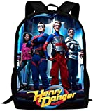 Mochilas Escolares de Viaje Henry Danger Printed School Backpack Water Resistant Travel Rucksack Bag Laptop Lightweight Backpack Daypack