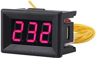"""Akozon Voltímetro Digital 0.36"""" Pantalla LED Voltímetro Medidor de voltaje CA Panel 70-380V"""
