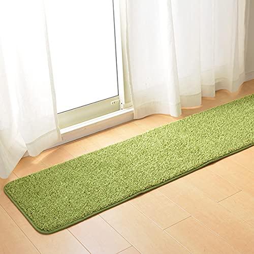 なかね家具 キッチンマット ロングマット 芝生風 人工芝 ホットカーペット・床暖房対応 ウレタン入り 屋内用 中国製 45×240 グリーン 223shiva