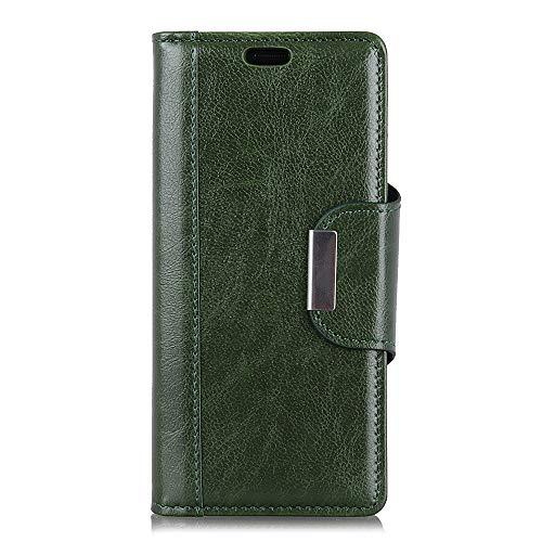 BRAND SET Hülle für HTC Desire 12S Brieftasche Handyhülle Kunstleder Flip Hülle mit sicherer Magnetverschlussverriegelung & Stent-Funktion,geeignet für HTC Desire 12S (Grün)