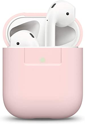 elago Silikonhülle Kompatibel mit Apple AirPods 1 & 2 LED vorne sichtbar - Unterstützt kabelloses Laden Stoßfeste Schutzhülle Perfekt Passt Hülle - Rosa
