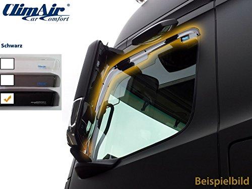 Vordere Windabweiser (1 Set) für die Fahrer und Beifahrerseite-CLS0046092D passend für Ford Transit Custom TYP FAC, FCC, 2-Door, 2013- Dunkles Material