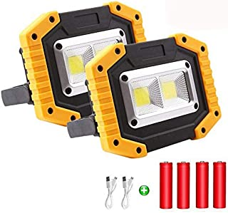 Sponsored Ad – LED Work Light Rechargeable Floodlight, 30W Waterproof Floodlight Work Lights Camping Lights for Outdoor Ca...
