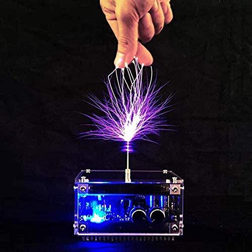 Música Tesla Bobina Luminaria artificial Ciencia y Educación Herramienta de Educación DIY Experimento Escritorio Modelo de juguete inalámbrico Transmisión Artificial Generador de rayos Módulo electrón