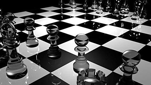 Jigsaws Puzzel,Puzzels Zwart Witte Ajedrez Figuras,Diy Houten Puzzle 500 Stukjes, Legpuzzels Voor Volwassen Kinderspeelgoedspel (52 * 38Cm)