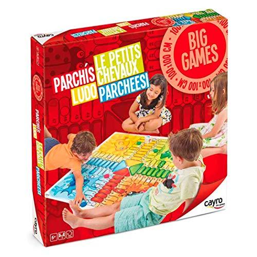Cayro - Parchs Gigante - Juego de mesa infantil - parchs infantil - Juego de cooperacin Desarrollo de habilidades visuales y lgico-matemticas - Juego de mesa (160)