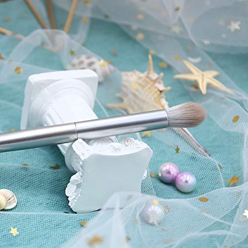 AHEFA1 Stück Silber Make-Up Pinsel Flauschigen Puder Erröten Präzision Smudger Augen Mischen Pinsel Textmarker Konturieren Schönheit