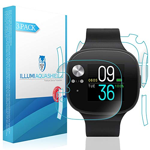 ILLUMI AquaShield Front + Back Protector Compatible with Asus VivoWatch BP (2-Pack) HD Clear Screen Protector No-Bubble TPU Film