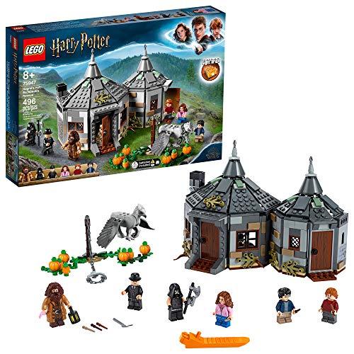 LEGO Harry Potter Hagrid#039s Hut: Buckbeak#039s Rescue 75947 Toy Hut Building Set from The Prisoner of Azkaban Features Buckbeak The Hippogriff Figure 496 Pieces