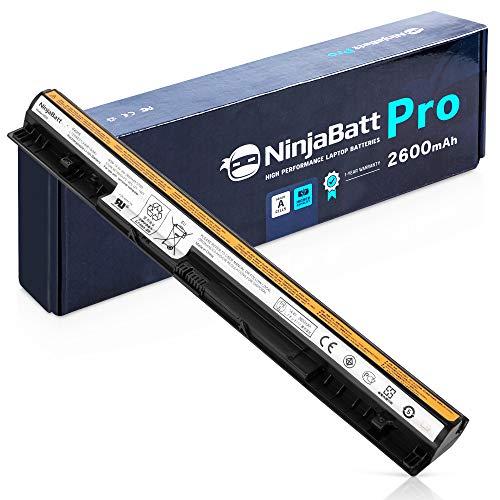 NinjaBatt Pro Laptop-Akku für Lenovo L12M4E01 L12L4A02 L12L4E01 L12M4A02 L12S4A02 IdeaPad G400s G500s G505s G50 G50-45 G50-70 G50-80 Z50 Z70 Z710 S410p S510p - Samsung Zellens [4 Zellens/2600mAh/37Wh]