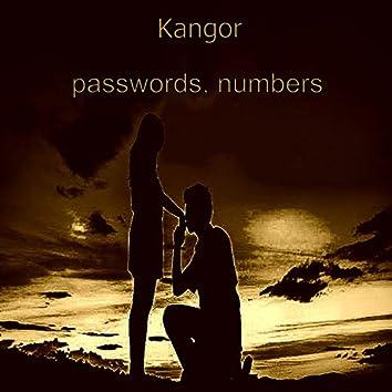 Passwords, Numbers