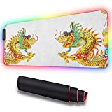 Gaming Mousepad, Chinese Style Dragon Statue Spiri, High-Performance Mouse Pad Optimized for Gaming Sensors 31.5 X 11.8 Inch