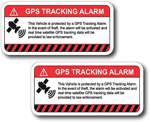 4 x EXTERNAL GPS Tracker Fitted Warning Alarm Stickers-Vehicle,Car,Van Security